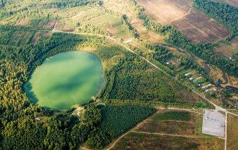 Озеро Светлояр с высоты птичьего полета